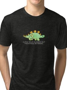 Firefly Wash's stegosaurus quote. (darker backgrounds) Tri-blend T-Shirt