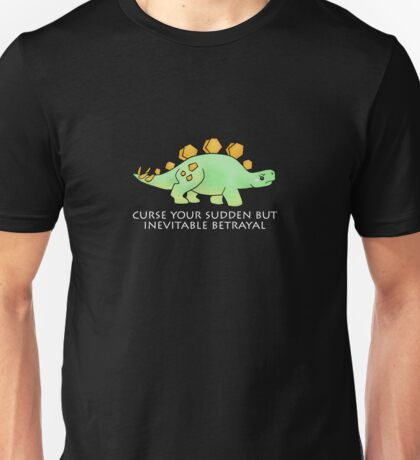 Firefly Wash's stegosaurus quote. (darker backgrounds) Unisex T-Shirt