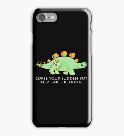 Firefly Wash's stegosaurus quote. (darker backgrounds) iPhone Case/Skin