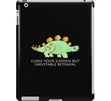 Firefly Wash's stegosaurus quote. (darker backgrounds) iPad Case/Skin