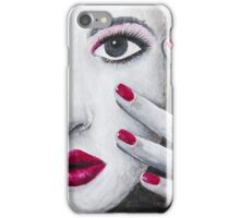 Hotpink nail polish iPhone Case/Skin