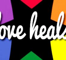 Love Heals - RENT Pride Sticker