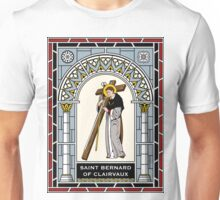 ST.BERNARD OF CLAIRVAUX under STAINED GLASS Unisex T-Shirt