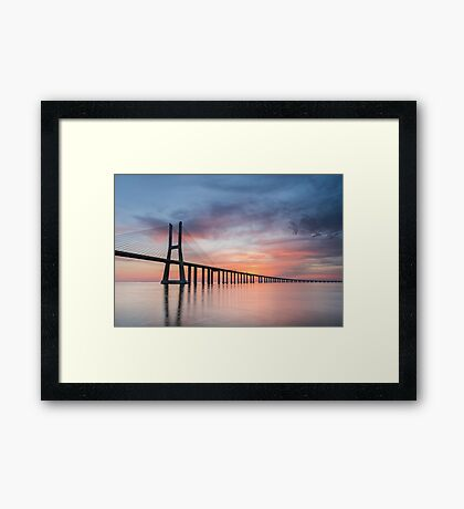 Vasco da Gama Sunset Framed Print
