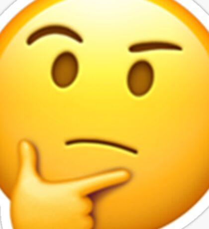 Emoji Think Sticker