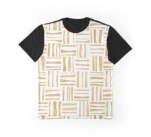 Tan Woven Watercolor Graphic T-Shirt