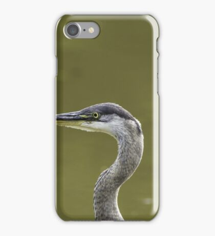 Profile of a Great Blue Heron iPhone Case/Skin