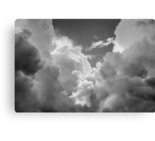 Black And white Sky With Dramatic Storm Clouds Canvas Print