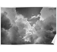 Black And white Sky With Dramatic Storm Clouds Poster