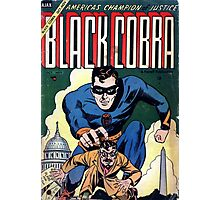 Black Cobra - Golden Age Comic Cover Photographic Print