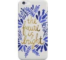 The Future is Bright – Navy & Gold iPhone Case/Skin
