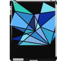 blue and green geometric triangle pattern iPad Case/Skin