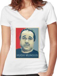 hugh mungus Women's Fitted V-Neck T-Shirt