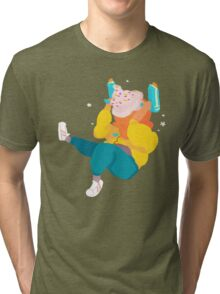 ice cream space man Tri-blend T-Shirt
