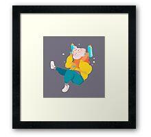 ice cream space man Framed Print