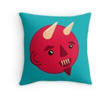 Smiley Demon Throw Pillow
