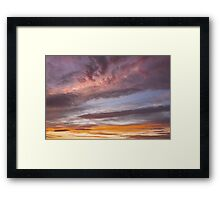 Colorful Orange Yellow Clouds At Sunset Framed Print