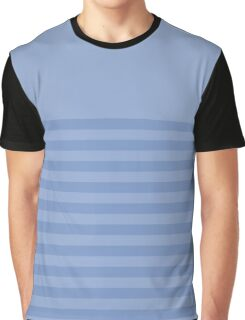 Retro Inspired Striped Serenity Color of Year 2016 Graphic T-Shirt