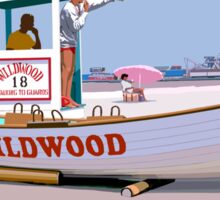 Wildwood By the Sea Sticker