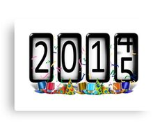 NEW YEAR 2015 Odometer Canvas Print