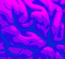 Neon Brain Sticker