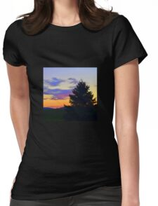 West Brome Sunset Landscape Womens Fitted T-Shirt