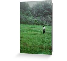 Young Woman Standing in a Field Greeting Card