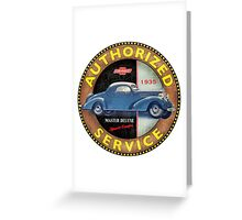 1935 Chevrolet Master Deluxe Greeting Card