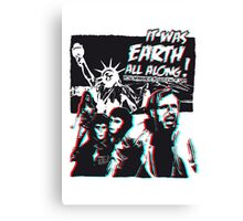 Planet of the Apes - 3D ver. Canvas Print
