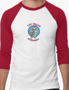 Los Pollos Hermanos Logo Men's Baseball ¾ T-Shirt