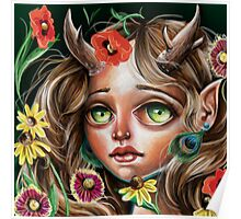 Wild Flower :: Pop Surrealism Little Scamp Poster