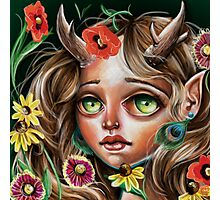 Wild Flower :: Pop Surrealism Little Scamp Photographic Print