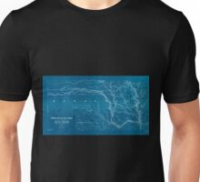 0402 Railroad Maps Union Pacific Rail Road map of a portion of Nebraska Territory showing surveys and location of lines by Peter A Dey C Inverted Unisex T-Shirt