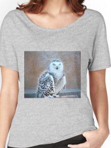 Snowy Owl Fractal Women's Relaxed Fit T-Shirt