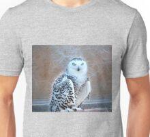 Snowy Owl Fractal Unisex T-Shirt