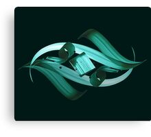 Green-blue Eye of Night Sky Canvas Print