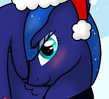 Princess Luna Christmas Card - Postcard My Little Pony by FalakTheWolf
