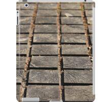 paving wooden walkway iPad Case/Skin