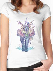 Spirit Animal - Elephant Women's Fitted Scoop T-Shirt