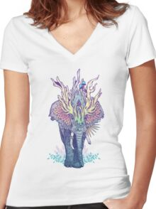 Spirit Animal - Elephant Women's Fitted V-Neck T-Shirt