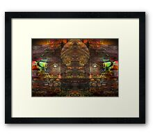 The Wall Of Fantasy Framed Print