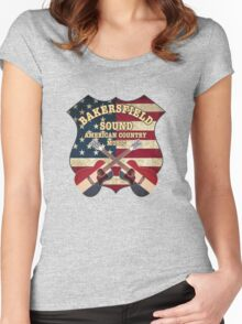 Bakersfield Country Music California   Women's Fitted Scoop T-Shirt