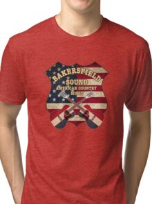 Bakersfield Country Music California   Tri-blend T-Shirt