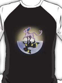 Umbreon & Espeon, Night and Day T-Shirt