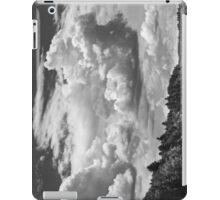 Black And White Storm Clouds Cobbossee Lake Maine iPad Case/Skin