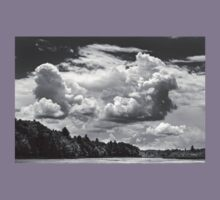 Black And White Storm Clouds Cobbossee Lake Maine Kids Clothes