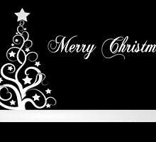 Black and white christmas design by MartinCapek