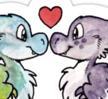 Dinosaurs in Love Sticker