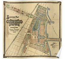 Jackson Park and Midway Plaisance, Chicago, Illinois (1893) Poster