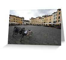 Bicycles in Lucca  Greeting Card